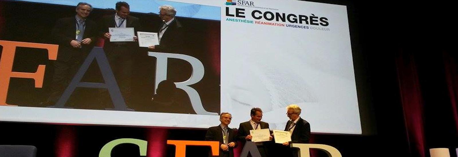 Remise de prix au Congrès SFAR 2017