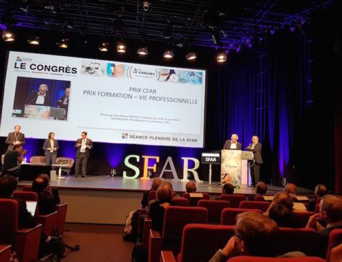 Remise de prix du CFAR au congrès SFAR  !