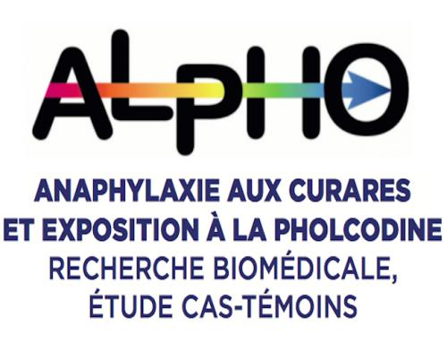 ALPHO – (AnaphyLaxie aux curares et exposition à la PHOlcodine)