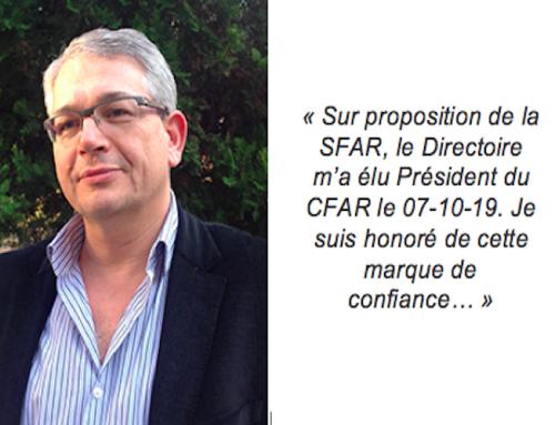 Le nouveau Président du CFAR s'exprime !